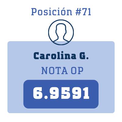 Nota Carolina G.