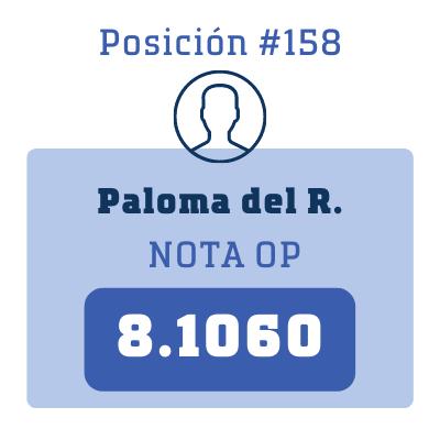 Nota Paloma del R.