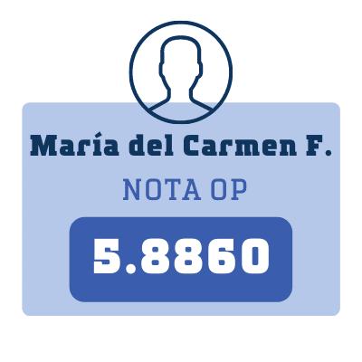 Nota María del Carmen F.